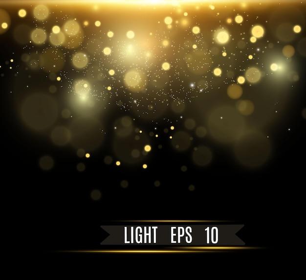 Piękne Iskry świecą Specjalnym światłem Wektor Błyszczy Na Przezroczystym Tle Boże Narodzenie Ab Premium Wektorów