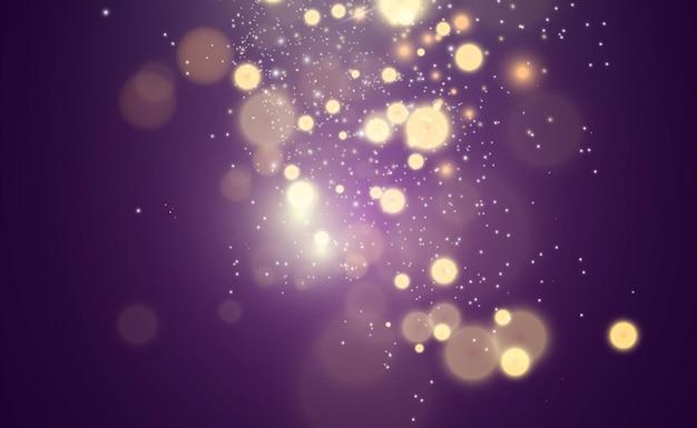 Piękne iskry świecą specjalnym światłem wektor błyszczy na przezroczystym tle boże narodzenie