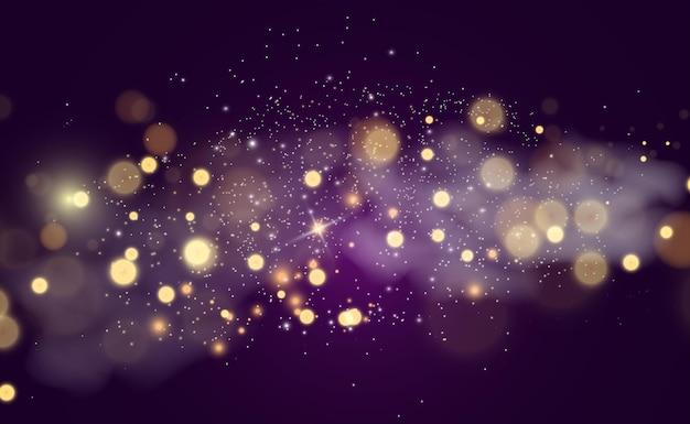 Piękne iskry świecą specjalnym światłem wektor błyszczy na przezroczystym tle