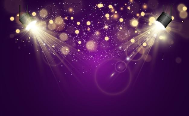 Piękne iskry świecą specjalnym światłem.