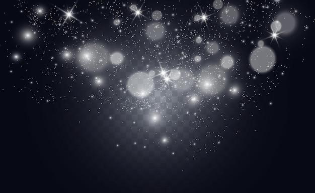 Piękne iskry świecą specjalnym światłem