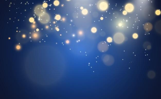 Piękne iskry świecą specjalnymi iskierkami światła