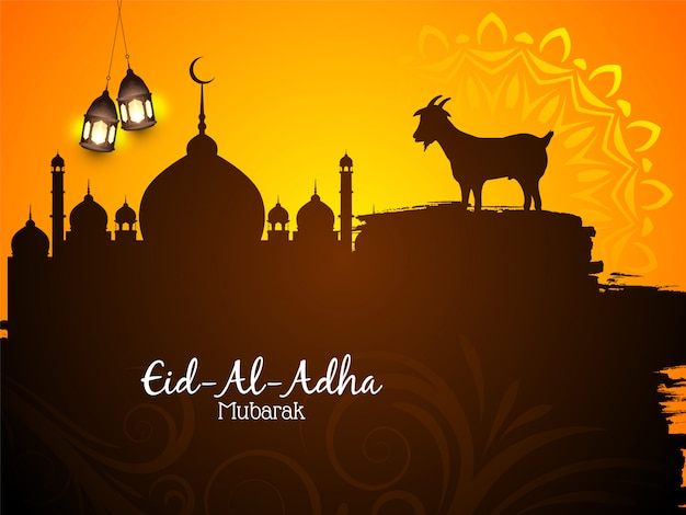 Piękne islamskie tło mubarak eid al adha