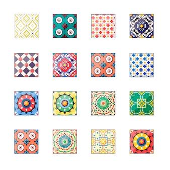 Piękne kolorowe płytki azulejo w tle