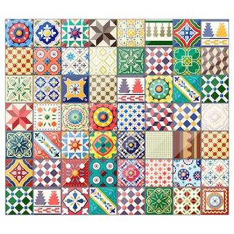 Piękne kolorowe tło azulejo płytki