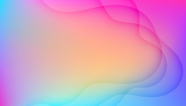 Piękne kolorowe tło z falistymi liniami