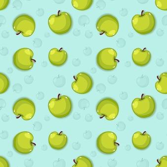 Piękne kreatywne tło wzór jabłka