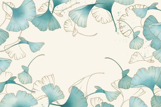 Piękne kwiaty akwarela tło