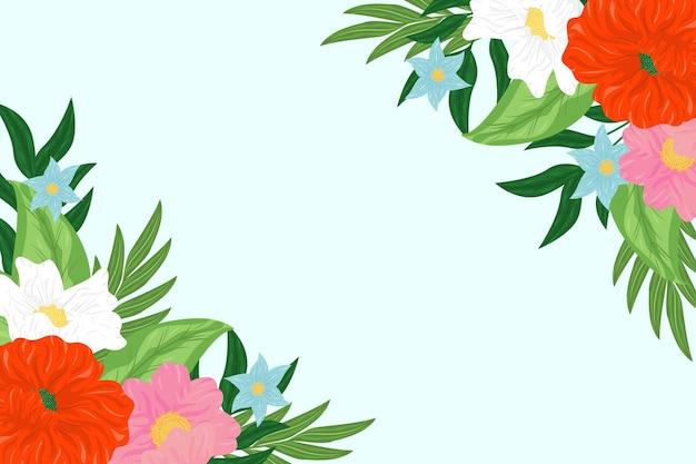 Piękne kwiaty w tle