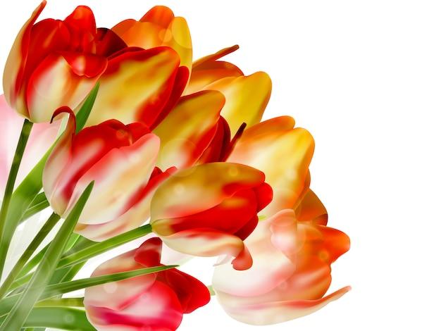 Piękne kwiaty wykonane z kolorowych filtrów.