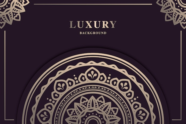 Piękne luksusowe mandali tło