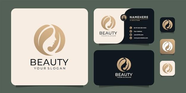 Piękne luksusowe włosy kobiety z koncepcją liści do salonu mody i spa