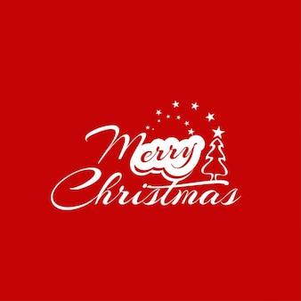 Piękne merry christmas tekst projektu na czerwonym tle