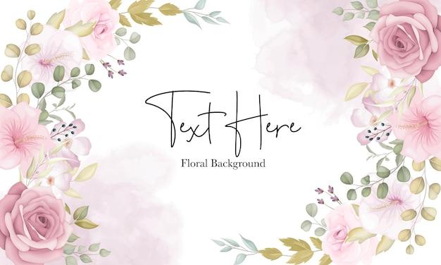 Piękne miękkie tło kwiatowy z zakurzonymi różowymi kwiatami