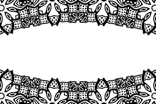 Piękne monochromatyczne tło wektor plemienny z białą przestrzenią kopii