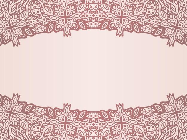 Piękne monochromatyczne tło wektorowe ze szczegółową granicą wschodnią i przestrzenią do kopiowania