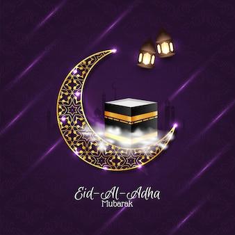 Piękne mubarak religijne eid-al-adha