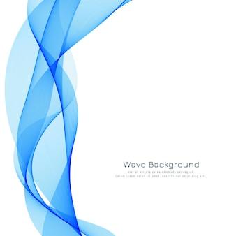 Piękne niebieskie tło fali