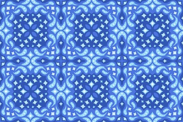 Piękne niebieskie tło web z gwiaździstym wzór płytki bez szwu