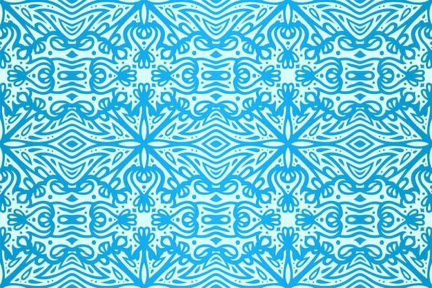Piękne niebieskie tło wektorowe z kolorowym lodowym bezszwowym wzorem