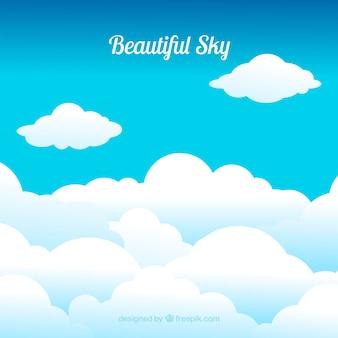 Piękne niebo w tle