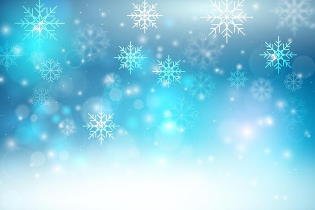 Piękne niewyraźne tapety zimowe