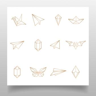 Piękne około logo ręczne magiczna wiedza edytowany szablon prosty projekt