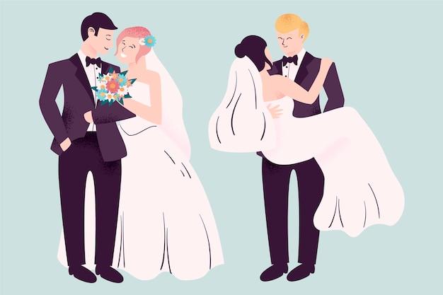 Piękne pary ślubne