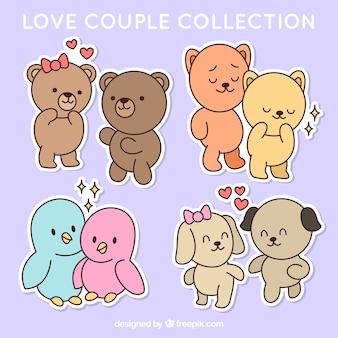 Piękne pary w miłości ze zwierzętami