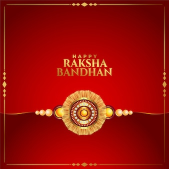 Piękne raksha bandhan czerwone tło z rakhi