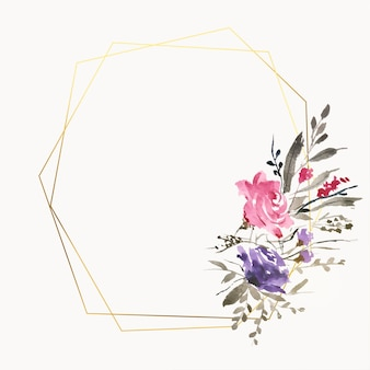 Piękne ramki kwiatowe akwarela