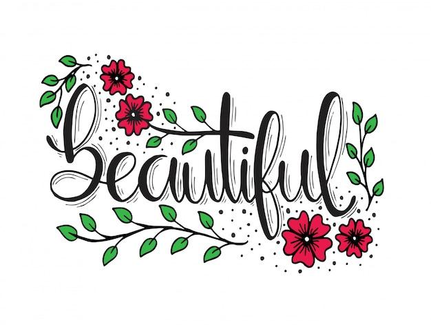 Piękne, ręcznie drukowane litery, inspirujące cytaty