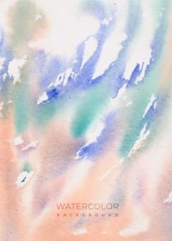 Piękne ręcznie malowane tła akwarela
