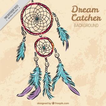 Piękne ręcznie rysowane dreamcatcher