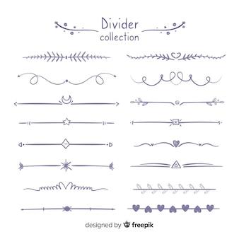 Piękne ręcznie rysowane ozdoba divider