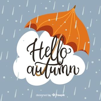 Piękne ręcznie rysowane tła jesień