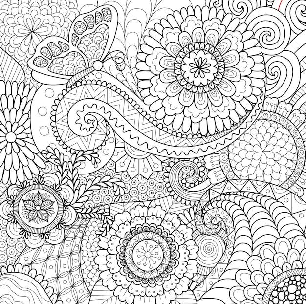 Piękne ręcznie rysowane tła