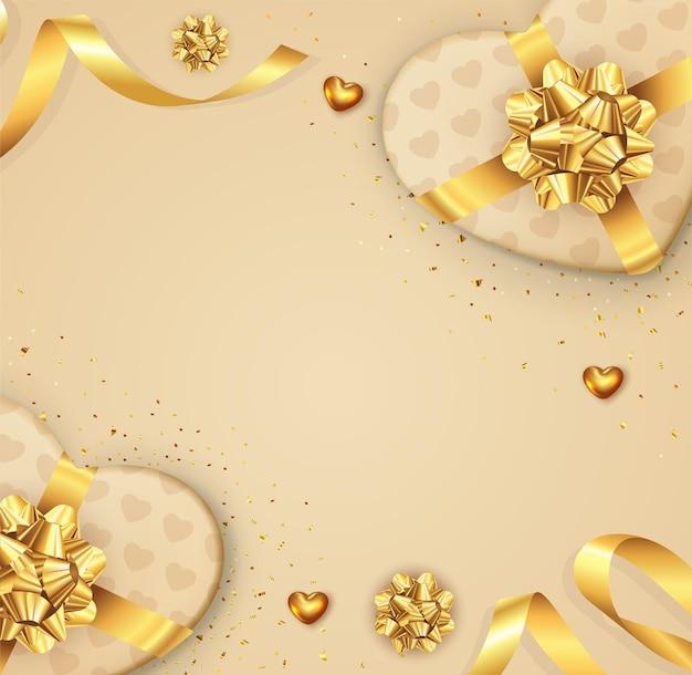 Piękne romantyczne tło walentynki z miejsca na kopię