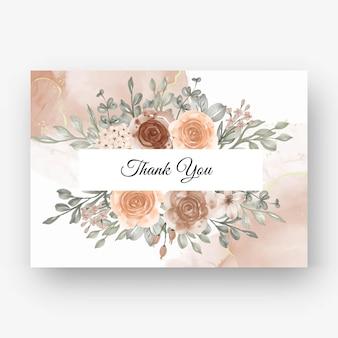 Piękne różane tło ramki na zaproszenie na ślub z beżowym delikatnym pastelowym kolorem