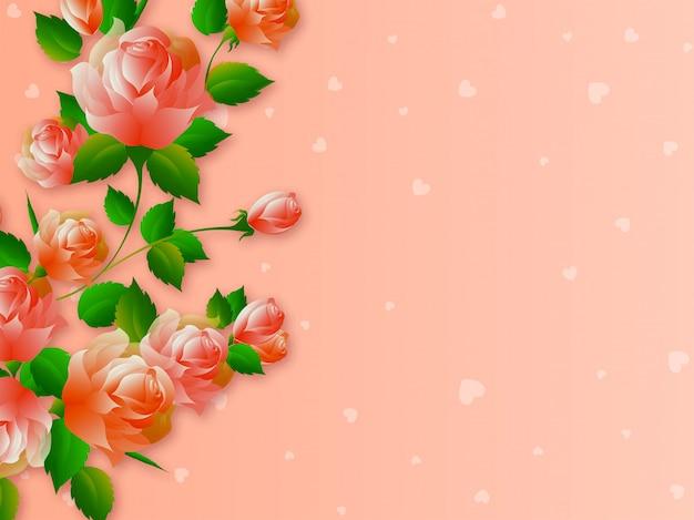Piękne róże kwiaty.