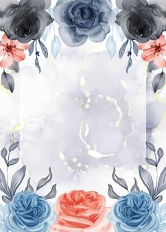 Piękne różowe niebieskie pomarańczowe tło ramki z białą spacją