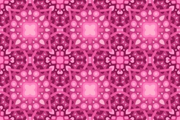 Piękne różowe tło web z abstrakcyjny wzór płytki bez szwu