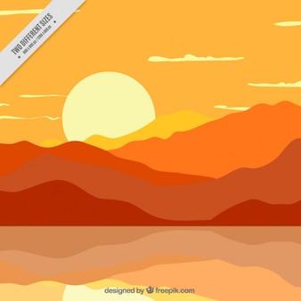 Piękne słońca w pomarańczowych kolorach