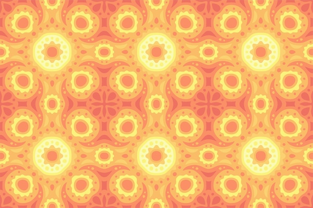 Piękne Słoneczne Kolorowe Tło Ze Szczegółowym Wzorem Płytki Pomarańczowy Bez Szwu Premium Wektorów