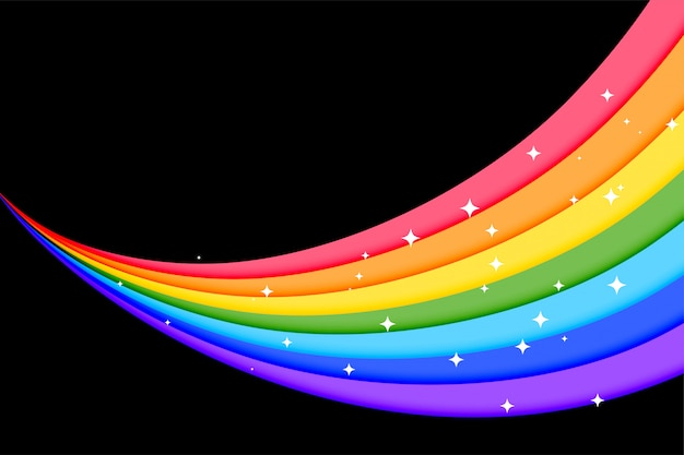 Piękne tęczy kolorowe linie tła