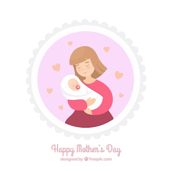 Piękne tła matki z dzieckiem
