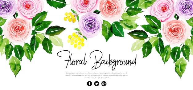 Piękne tło akwarela kwiatowy