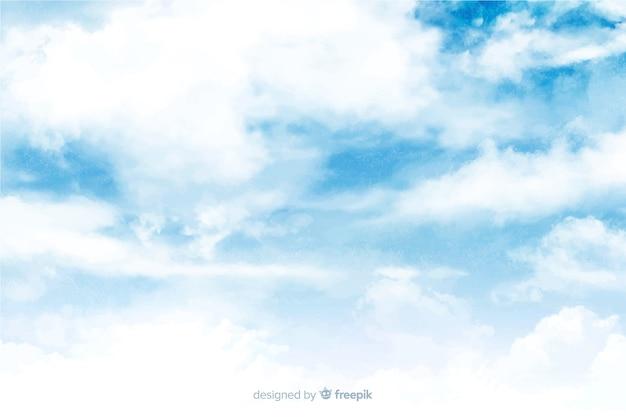 Piękne tło chmury akwarela
