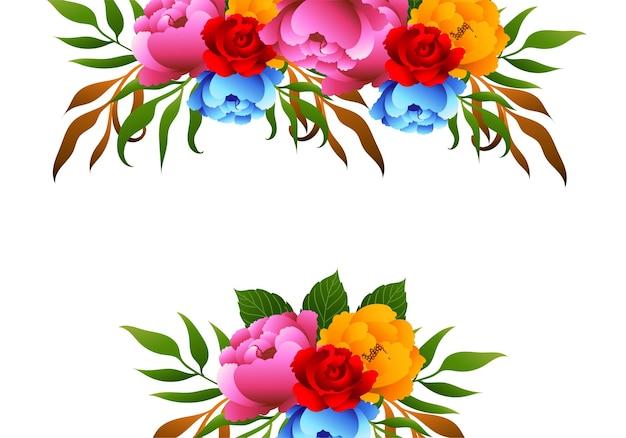 Piękne tło dekoracyjne piękne kolorowe kwiaty ślubne