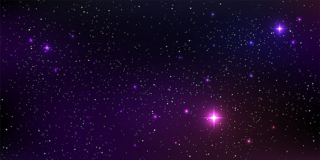 Piękne tło galaktyki z gwiezdnym pyłem kosmosu mgławicy i jasnymi świecącymi gwiazdami we wszechświecie